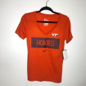 Virginia Tech Hokies NIke V-Neck T-Shirt NWT